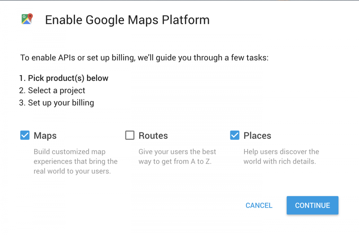Google Maps Platform Walkthrough Step 1