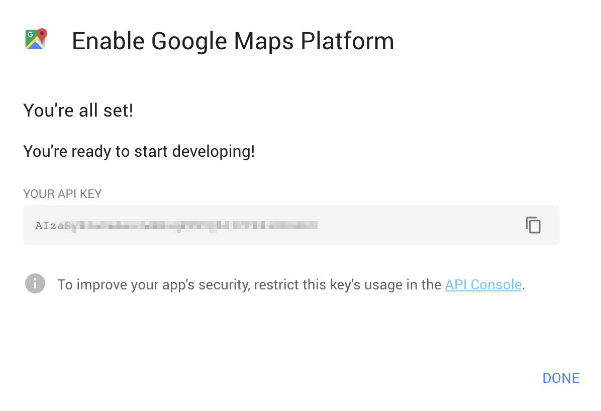 Google Maps Platform Walkthrough Step 10